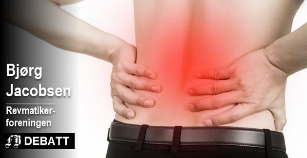 Revmatiske sykdommer gir oftest smerter i ledd, rygg og muskler. – Dette er den sykdommen som rammer flest og koster samfunnet mest, forteller Bjørg Jacobsen