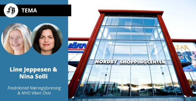 Nordby Shoppingcenter er blant dem som får merke virkningen av koronastengte grenser.