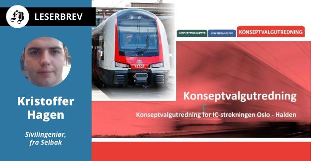 Konseptvalgutredningen la til grunn en standard for Østfoldbanen som senere ble erstattet med dyrere løsninger uten praktisk nytte, ifølge Kristoffer Hagens kronikk. Montasje: FB