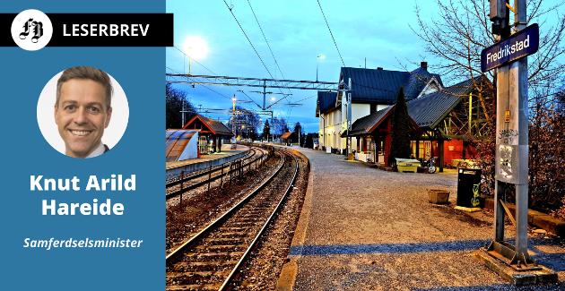Med noen utbedringer skal dette være Fredrikstad stasjon også i fremtiden, ifølge forslaget Hareide anbefaler. Det vil gi hyppigere avganger til Oslo.