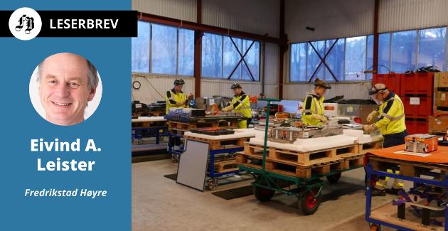 Batteriretur, fersk bedrift på Øra som fikk problemer med  tomt til ny fabrikk. Leister mener private aktører må få utvikle sine tomter for næringsvirksomhet.