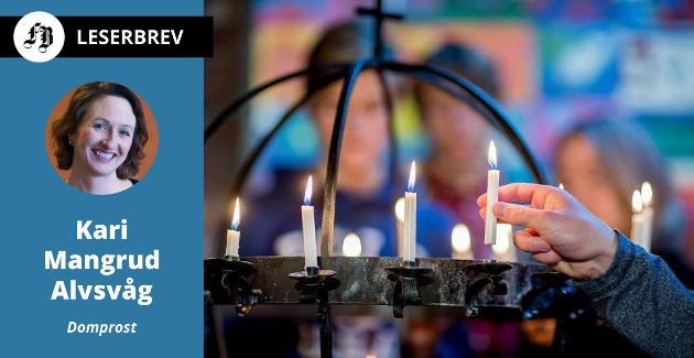 – Allehelgen – første helgen i november – gir oss mulighet til å uttrykke sorg. Tenn et lys for det du har tapt og det du lengter etter, skriver domprost Kari Mangrud Alvsvåg.