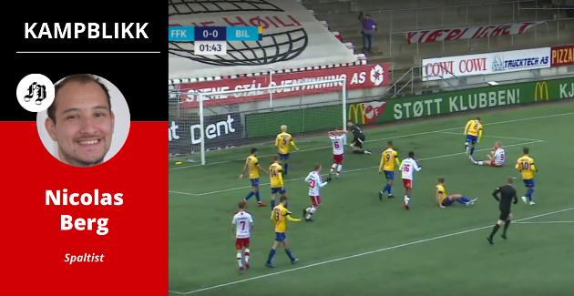 Et par minutter er spilt, Henrik Kjelsrud Johansen sitter på baken og ser at avslutningen går utenfor, men fem FFK-spillere innenfor Brattvågs 16-meter sier det meste om viljen til å score mål.