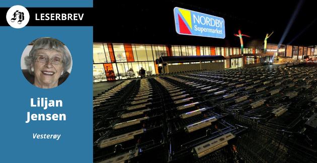 – Matbutikkene på Nordby har montert telleapparater. Det betyr at det kun er x antall personer som kommer inn av gangen. Hvor er slik kontroll i Norge? spør Liljan Jensen.
