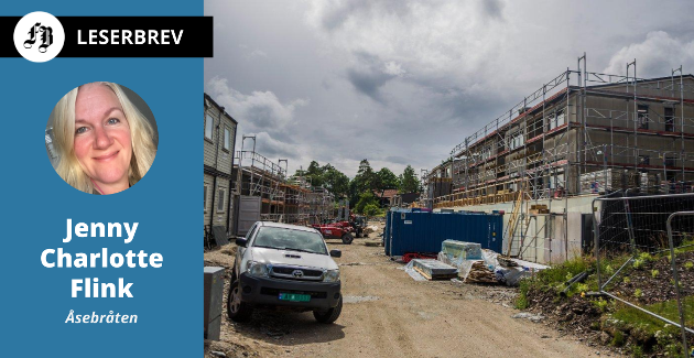 Byggingen av Smedens hage er i sluttfasen. Dette bildet ble tatt i sommer. Nå frykter  brevforfatter Jenny Charlotte Flink for det som kommer når Stjernehallen skal erstattes av boliger.