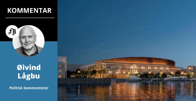Arena Fredrikstad blir forsinket, og står ikke ferdig før tidligst i 2024. Men pengene er på plass. Hvor raskt arenaen kommer, vil også avhenge av hva Viken-politikerne setter av til ny Frederik II. Illustrasjon: LINK arkitektur/Griff arkitektur