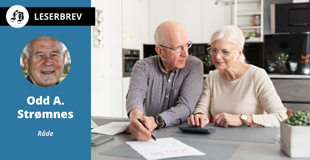 Heller ikke pensjonister kan godta nedgang i lønn, mener brevforfatteren.