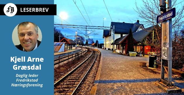Fredrikstad stasjon, åpnet i 1879.  – Med Grønli som trafikalt knutepunkt vil vi knytte sammen tre hovedveier med et kollektivknutepunkt som ligger nær store transformasjonsområder, skriver Græsdal.