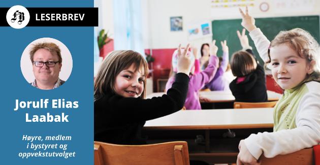 – Kvalitetsmeldingen for grunnskolen i Fredrikstad viser oss at for mange elever er på de laveste nivåene på nasjonale prøver og standpunktkarakterer, skriver Jorulf Elias Laabak.