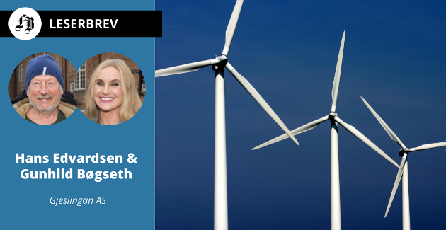 Fremfor vindmøllene frustrasjon ønsker Edvardsen og Børseth å satse på  en kombinasjon av batteri og solceller.