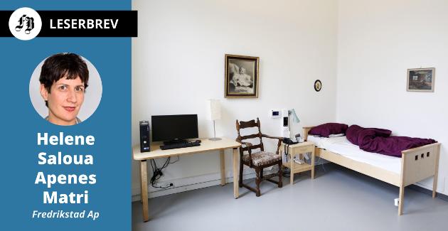 Fra Oslo kommunes demonstrasjonsbolig med demensvennlige omgivelser, hjelpemidler og velferdsteknologi.   – Velferdsteknologi skal også benyttes ved sykehjemmene i Fredrikstad, skriver Apenes Matri.