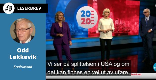 Mer av dette, ber Odd Løkkevik. Skjermbilde fra Dagsrevyen onsdag 4. november.