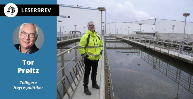 Frevar-direktør Fredrik Hellström ved dagens renseanlegg på Øra. Det må erstattes fordi det ikke tilfredstsiller tilfredsstiller fremtidige rensekrav.