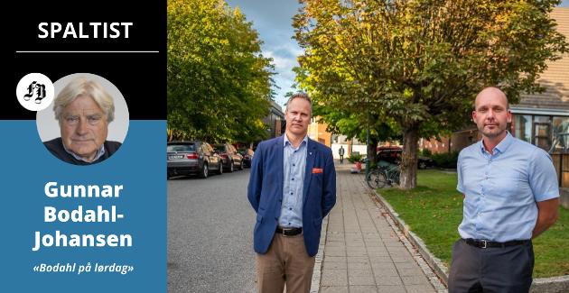 – Hva var det Jon-Ivar Nygård (til venstre) inviterte  Sindre Martinsen-Evje og Sarpsborg til å bli med på, spør Bodahl-Johansen om hvorfor det ikke var mulig å få til et felles kloakkrenseanlegg.
