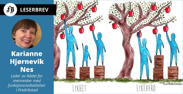 Samme menneskeverd og menneskerettighet selv om forutsetningene er ulike. Balder Andersens tegning er en tydelig illustrasjon.