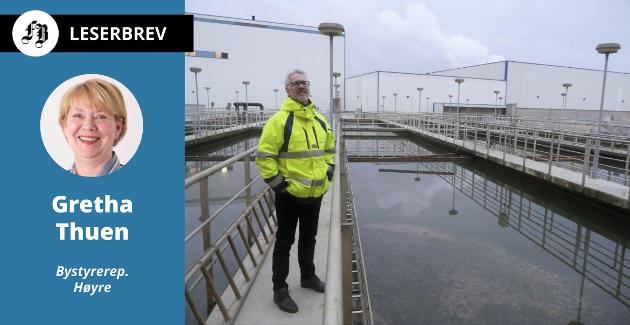 Investeringen i nytt renseanlegg, avfallssorteringsanlegg og trolig nytt behandlingstrinn ved vannverket er bakgrunnen for Gretha Thuens bekymring. Frevar-direktør Fredrik Hellström på bildet.