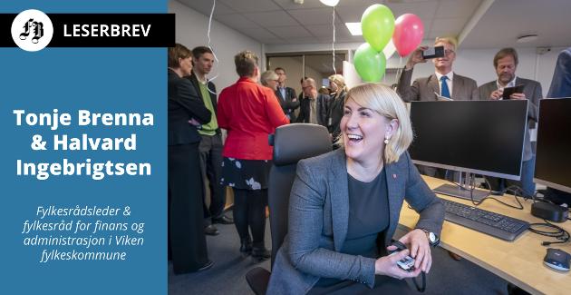 Ny fylkesrådsleder Tonje Brenna fra ballonger og festivitas i oktober 2019 til koronautbrudd måneder senere. – Pandemien kommer fortsatt til å prege ossi 2021, skriver hun.