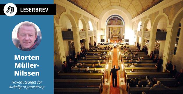 Siden 2017 har Den norske kirke vært et helt selvstendig trossamfunn, og ikke en statskirke som tidligere. Bilde fra gudstjeneste i Glemmen kirke.