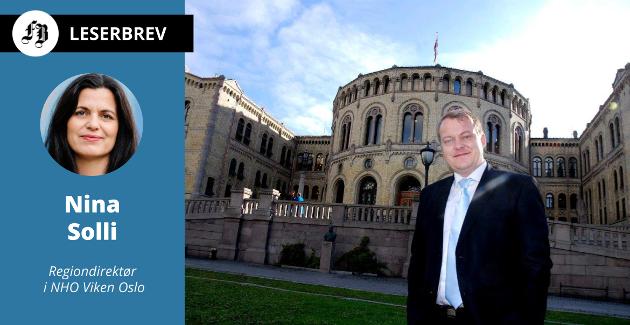 Erlend Wiborg utenfor Stortinget