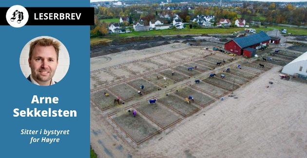 Planene om nytt ridesenter på Bekkevold er Sekkelstens første eksempel  på dagens feilprioritering. – Skole er viktigere enn hest. Vi mener det ikke er en kommunal oppgave å bygge ridesenter.