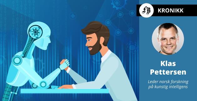 – Etikk og ansvarlig bruk av kunstig intelligens er ikke noe man gjør seg ferdig med i en strategi, det er et tema som må ha kontinuerlig fokus, skriver Klas Pettersen.