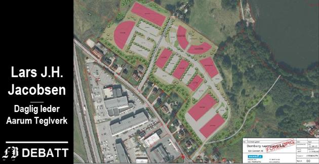 Revidert planprogram med lager og kontor ble sendt kommunen i juli 2018. Senere har politikerne kommet til at det skal drives landbruk på området som ligger like ved E6 på Årum.
