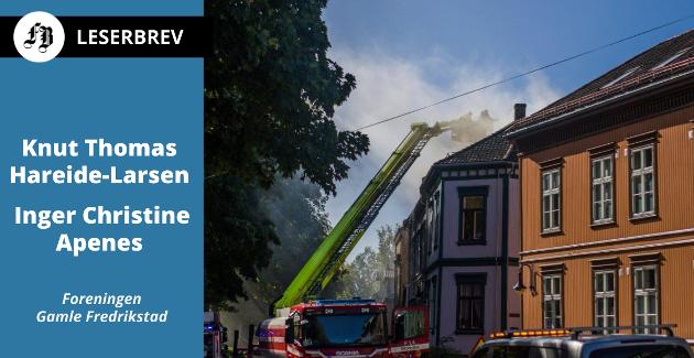 Fra brannen i Gamlebyen onsdag. Denne gangen ble det begrensede skader.