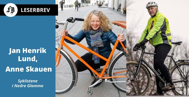 Syklistene i Nedre Glomma: Anne Skauen og Jan Henrik Lund