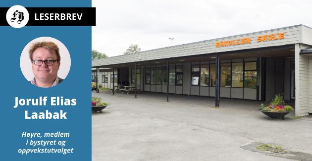 Tidligere Nabbetorp skole har vært midlertidige lokale for Råkollen skole siden 2016.