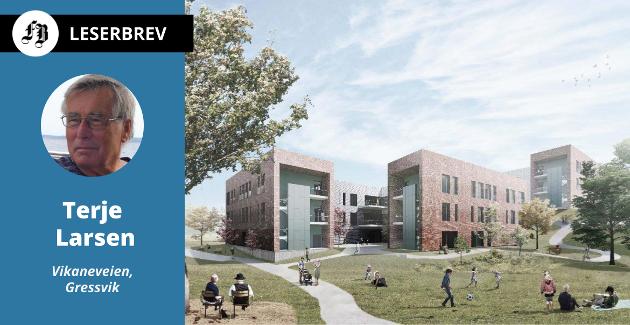 Modellen som viser hvordan nye Onsøyheimen skal bli.
