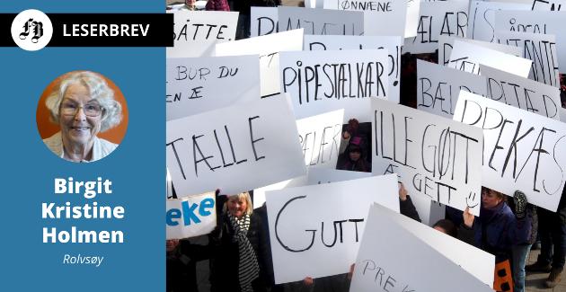 – Har forresten denne saken noe med dialekt å gjøre? undrer Birgit Kristine Holmen.