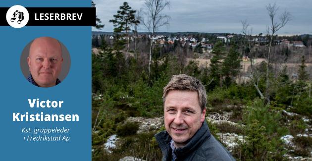 I Brønnerødlia på Veum skal direktør  Arild Mortensen og Isegran Eiendom legge ut tomter til høystbydende. – Det er lenge siden kommunen gikk bort fra faste priser på tomter. Er ikke realiteten at det da blir et fåtall heldige som får kjøpt en tomt til langt under markedspris, spør Victor Kristiansen i innlegget.
