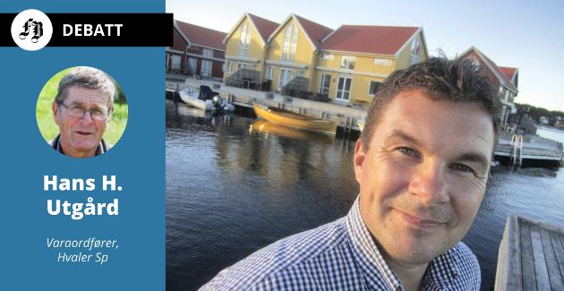Innleggsforfatter Hans H. Utgård avviser fullstendig spådommen fra Kim-Erik Ballovare (bildet) om om at det er et tidsspørsmål før Hvaler kommune blir slått sammen med Fredrikstad.
