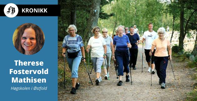 – Anbefalingen er justert opp til minst 150-300 minutter med moderat til intensiv aktivitet per uke, forteller Fostervold Mathisen. Bilde fra FB-reportasje om «Ille gla-trim».