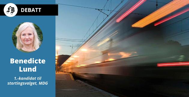 – Fredrikstad skal ikke havne i «bakevja», og ville med en slik høyhastighetsbane i tillegg fått fordelen av økt nærhet til Europa, skriver Benedicte Lund.