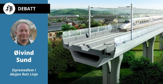 Planen som er referert i Smaalenenes Avis er en høyhastighetsbane bygd over bakkenivå. Avisen forteller at planen er tatt godt imot av politikere i Indre Østfold.