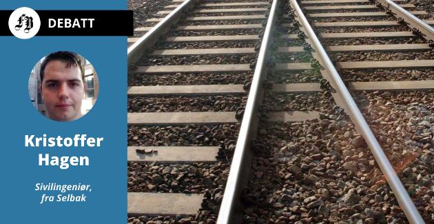 – Det er ganske utrolig at en regjering som er så opptatt av effektivisering på vei gir fullstendig blaffen i effektivisering av jernbanen, mener Kristoffer Hagen.