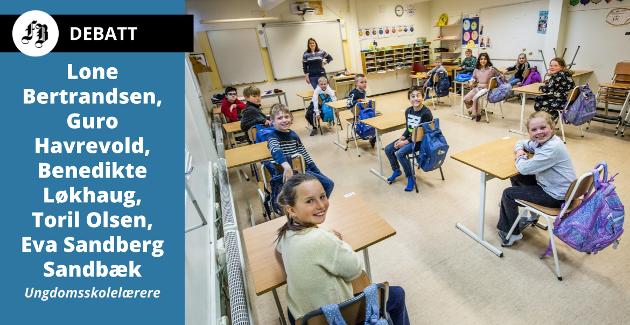 Begby-elever vel tilbake på skolebenken etter nedstengningen i mars/april. Innlegget beskriver en annen virkelighet med opptil 30 elever i trange klasserom.