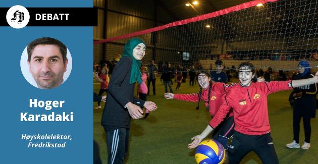 – Inkluderingsarbeidet gjør de lettere for barn og ungdom å drive med aktiviteter de ønsker, skriver Karadaki.  Bilde fra Barneidrettens dag i Østfoldhallen 2018.