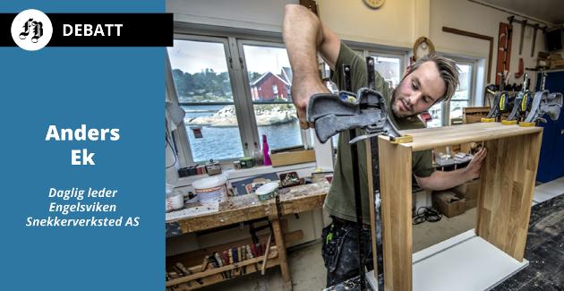 Glad i snekkerbua ved vannet i Engelsviken, oppfinnsom og praktisk som Emil. Anders Ek anbefaler yrket sitt for ungdom som skal ta en viktig avgjørelse om sin fremtid.