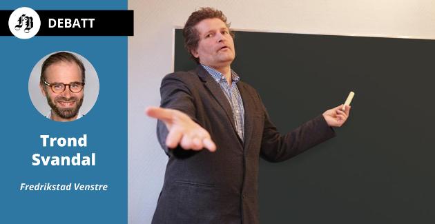 På tide med litt faglig påfyll? Svandal opplyser i innlegget at en betydelig andel av Fredrikstad-lærere som underviser i matematikk og engelsk ikke oppfyllet kravet om fordypning i faget.