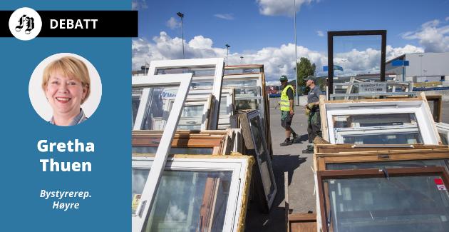 – Eksempelvis kan en ved Haraldsrud gjenbruksstasjon i Oslo levere inn byggevarer til ombruk og videresalg, opplyser Gretha Thuen.