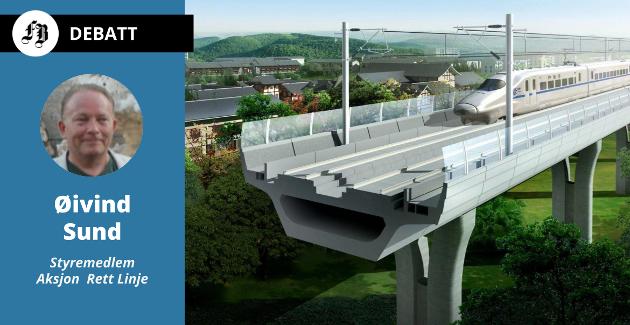 – Dette blir en svært miljøvennlig løsning som er langt raskere og billigere å bygge enn tradisjonell jernbane, skriver Sund om den påtenkte Skagerrakbanen.