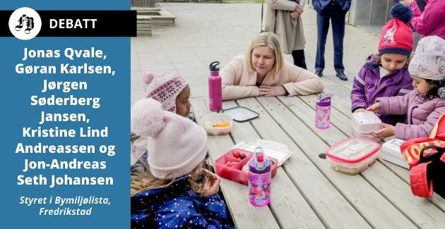 – De siste beskrivelsene av arbeidssituasjonen i barnehager og skoler gjør oss svært bekymret, heter det fra Bymiljølista. Bildet viser kunnskapsminister Guri Melby på besøk i Oslo-barnehage.