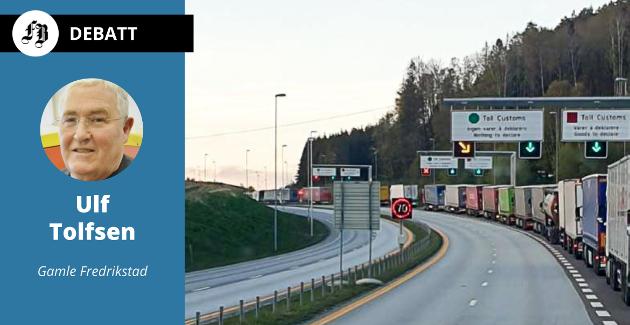 Ulf Tolfsen spår tett trafikk av privatbiler i tillegg til de mange langtransportene som tidligere har laget kø over Svinesund.