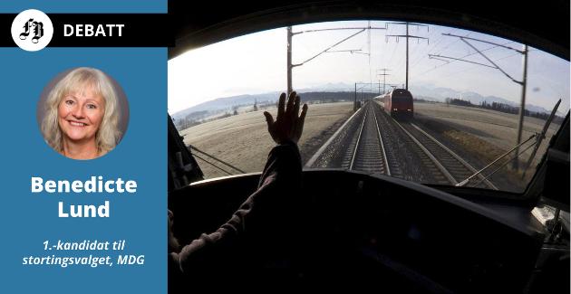 De Grønne stortingskandidat mener regjeringens jernbanesatsing er altfor dårlig.  – Ny NTP gir alvorlig nedskalering av togsatsingen i Østfold. Det er ikke greit!
