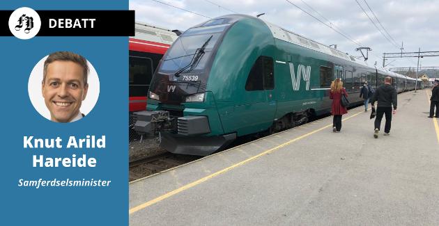 – Realiteten er altså at kostnadene for utbygging av dobbeltspor videre sørover på Østfoldbanen har eksplodert. Men vi skal fortsatt ha en stor satsing på jernbane i Østfold, skriver samferdselsministeren.