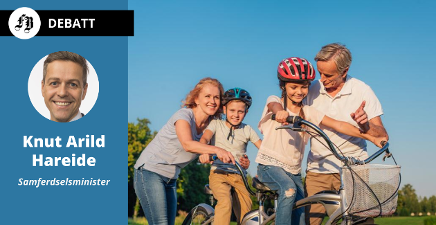 Samferdselsministeren vil ha flere til å sykle, og at det skal starte med gode opplevelser for barna når de er unge.