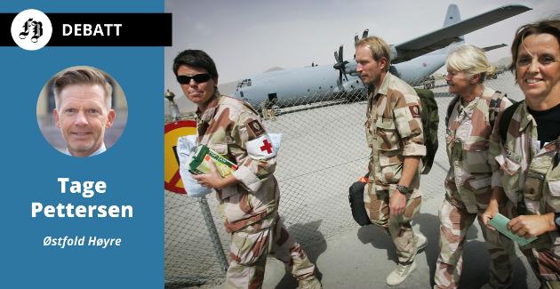 Sykepleierne på vei hjem etter heftig tjeneste i Afghanistan.   – I dag ser vi en økende kvinneandel som gjør sin plikt for landet, skriver Tage Pettersen.