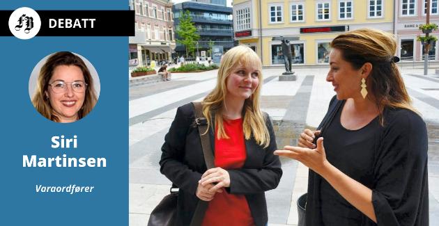 Når Siri Martinsen (til høyre) til høsten blir ordfører i Fredrikstad, blir hun den første fra Arbeiderpartiet, etter 128 år. Her sammen med Hvaler-ordfører Mona Vauger som er foran i denne løypa.